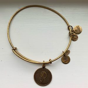 "Alex and Ani ""P"" Initial Bracelet"
